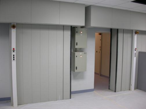 Sliding doors for a double radiotherapy bunker - Saudi Arabia.