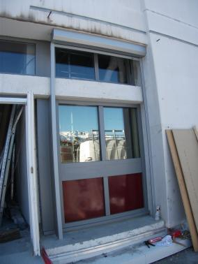 Clichy - France - Motorised double leaf door with 8mm lead.